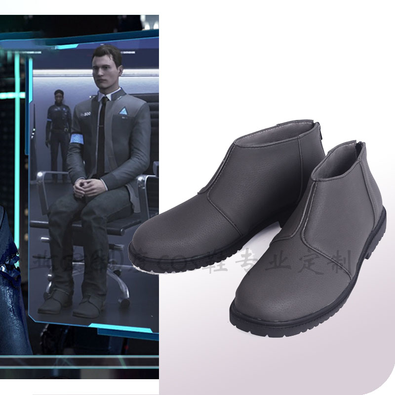 Game Detroit: Become Human Connor Cosplay Shoes RK800 Agent Boots Halloween Carnival Costume Accessories Custom Made