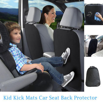 Car Seat Back Protector Cover For Children Kick Mat Mud Dirt Clean Auto Seat Anti Child Kick Covers for Kids Baby Infant Dogs image