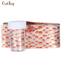 NEW Pretty DIY Sticker For Nail Design OutTop 1PC 4*100CM Design Nail Art Foil Stickers Transfer Decal Tips Manicure Decoration