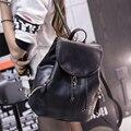 2017 nueva mochila de LA PU de Corea de bolsillo nueva mochila mochilas mujeres mochilas de viaje de cuero suave