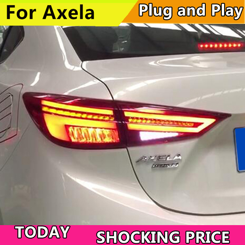 Car Style Tail lamp For Mazda 3 Tail Lights 2014-2018 New Mazda3 Axela LED Tail Light Orignal Design LED Rear Lamp DRL+Brake 1 pc outer rear tail light lamp taillamp taillight rh right side gr1a 51 170 for mazda 6 2005 2010 gg