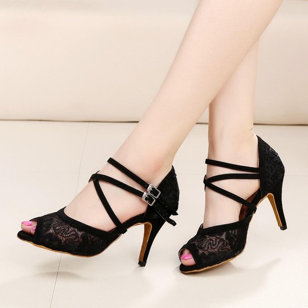Women Ballroom Latin Dance Shoes in High Heeled 5/6/7.5/8 ...