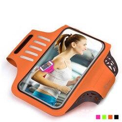 6.2 Polegada universal esporte correndo braçadeira saco para o iphone ginásio jogging braço bandas caso de toque para samsung telefone titular à prova dwaterproof água