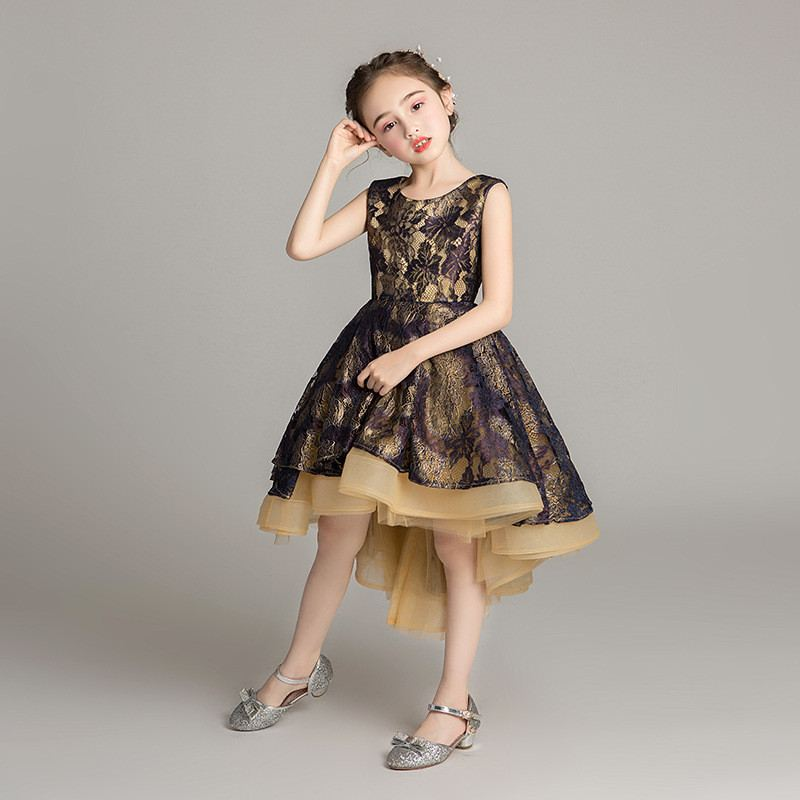 2019 Children Lace Flower Princess Formal Dress Kid Girl Wedding Evening Prom Gown Party Dress Baby Gilrl Elegant Mesh Dress Q622019 Children Lace Flower Princess Formal Dress Kid Girl Wedding Evening Prom Gown Party Dress Baby Gilrl Elegant Mesh Dress Q62