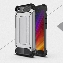 Купить с кэшбэком Xiaomi mi 5S Case ! Soft Silicon + PC Hard Armor Anti-knock Back Cover Case For Xiaomi mi5S Mi 5S