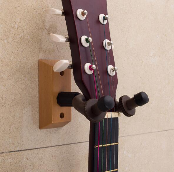 buy wall mount guitar ukulele wall hanger hook wood base guitar hanging hook. Black Bedroom Furniture Sets. Home Design Ideas