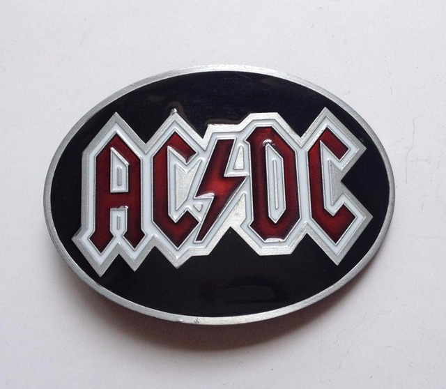 Oval ACDC Rock Music Belt Buckle
