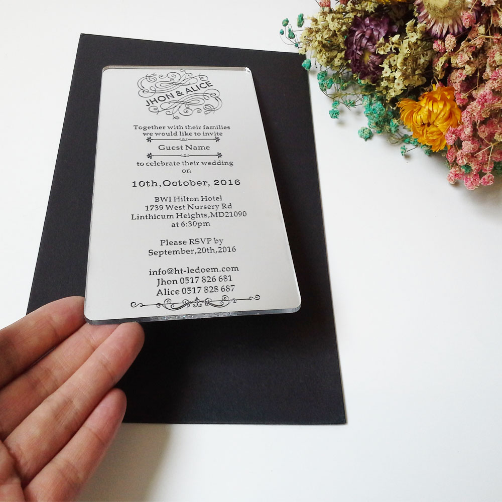 Acrylic Wedding Invitations – gangcraft.net