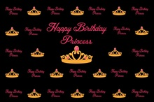 Laeacco Happy Birthday Princess Crown Scene Party Photography Backgrounds Customized Photographic Backdrops For Photo Studio alfredo d escragnolle t taunay cartas politicas portuguese edition