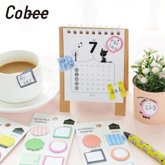 Cobee Schedule Maker Self Adhesive Memo Sticky Notes Bookmark School