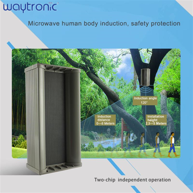 Garden Park Waterproof Audio Speaker Motion Detection Outdoor Safety Voice Announcement Public Broadcasting Device With USB Port