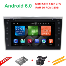 8 Core Android 6.0 2 din Car DVD Stereo for Vauxhall Opel Astra H G Vectra Antara Zafira Corsa DVD GPS Navi Radio 7 color