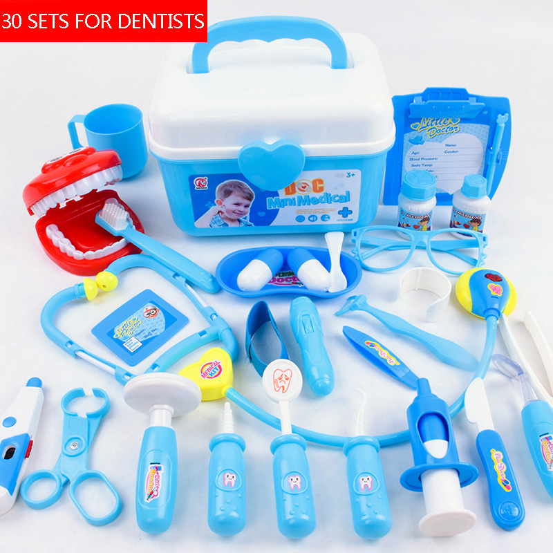 Kids Pretend Play Toy Doctor Game Toys Set Cosplay Doctors Vocal Light Stethoscope Toy Simulation Medical Equipments