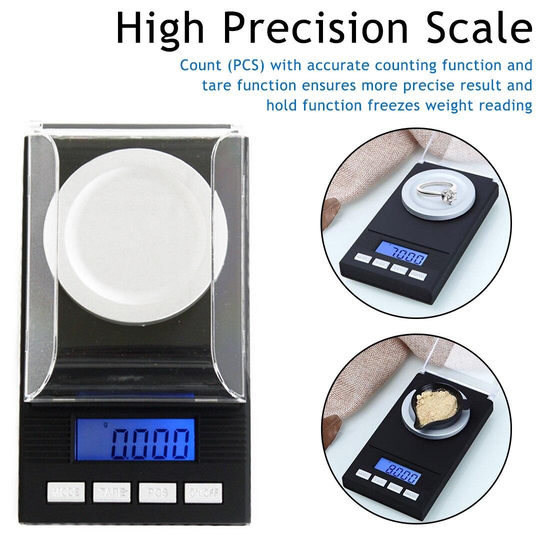 High Precision Portable Mini 20g/50g/100g/0.001g Digital Scale LCD Electronic Capacity Balance Diamond Jewelry Pocket Scale