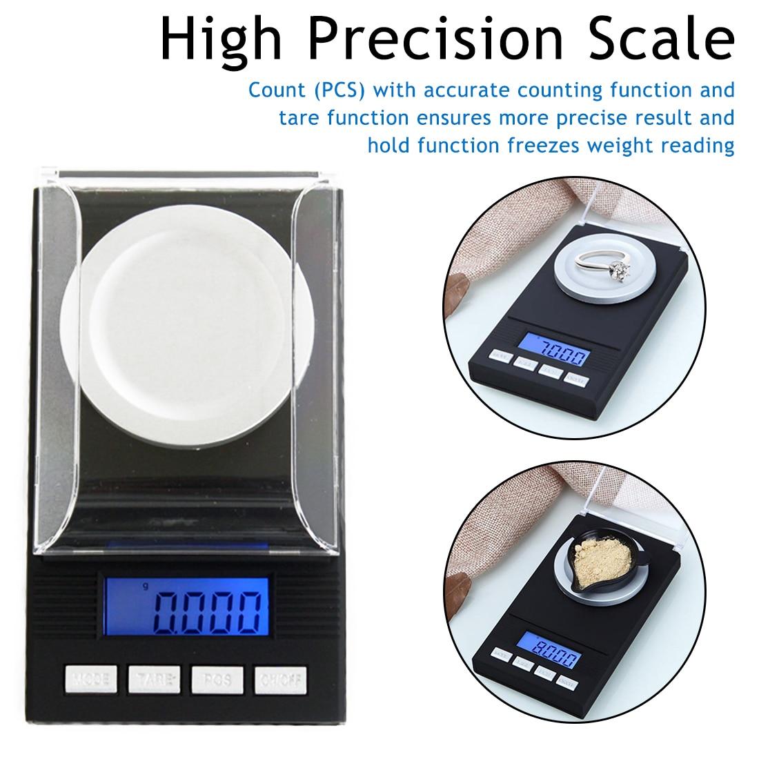 Mini Pocket Scale LCD Digital Electronic Jewellery Balance Scales 20-100g 0.001g