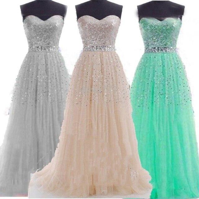 Neue mode süße lange party kleid trägerloses formales kleid vestidos ...