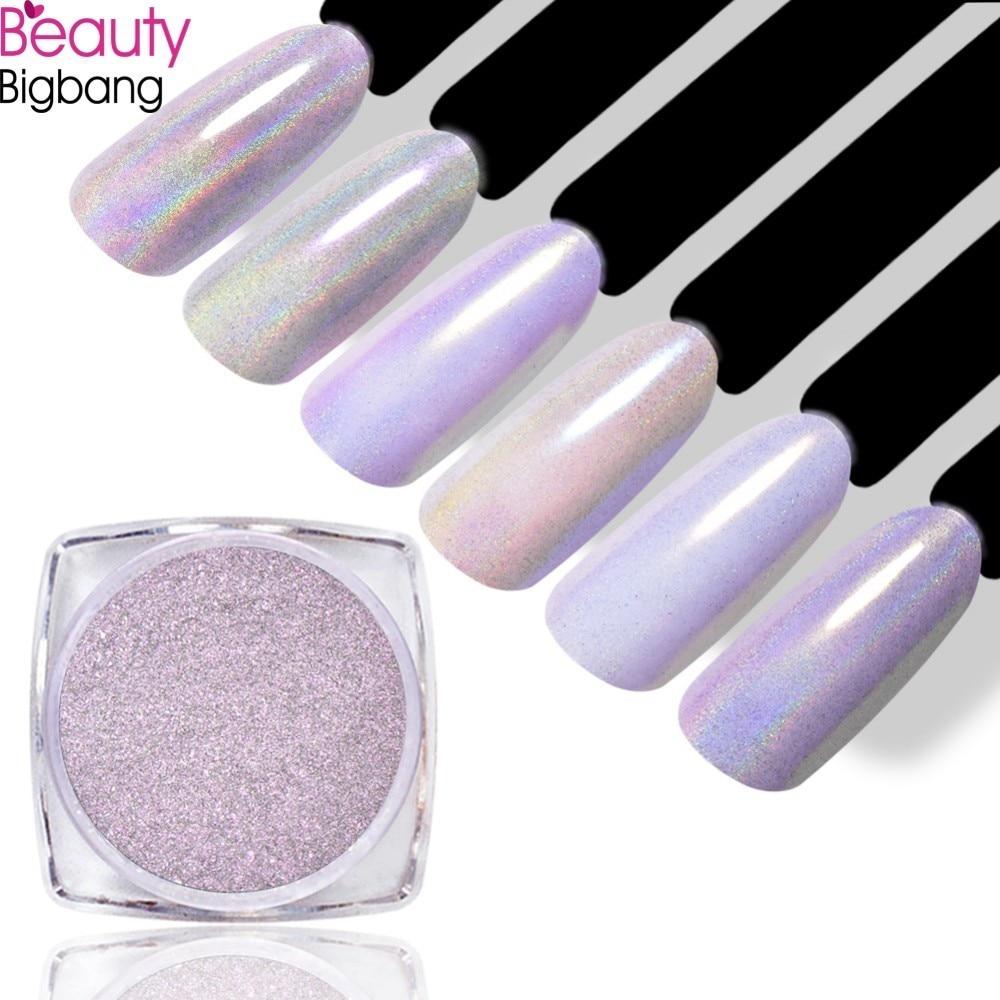 Nagelglitzer Beautybigbang 0,2g Chameleon Shimmer Mermaid Perle Nagel Glitter Pigment Glänzende Laser Shell Schimmer Pulver