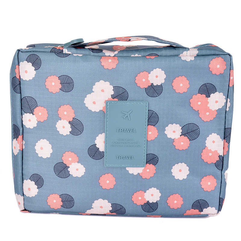 Hoomall 1PC Barrel Shaped Travel Cosmetic Bag Makeup Organizer Women Makeup Bag Girls Wash Bags High Capacity Storage Bag