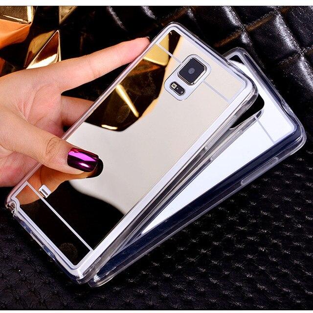 Spiegel Case Zachte TPU Cover Voor Samsung Galaxy J1 J5 J7 A3 A5 A7 2016 J3 A8 S3 S4 S5 S6 S7 Rand Plus Grand Prime Telefoon gevallen