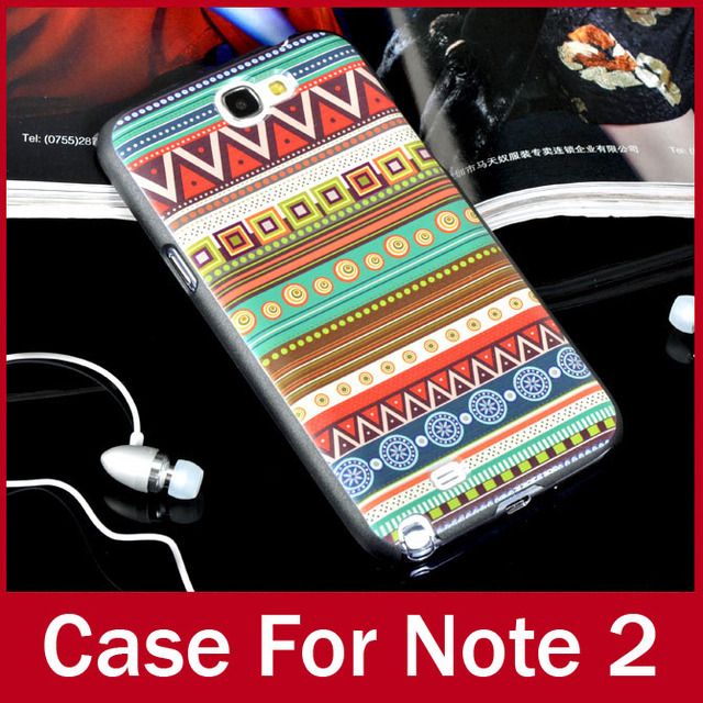 2pcs/lot National Style Durable Hard Back Shell Cover For Samsung Note 2 ii N7100 Fashion Case For Galaxy Note2 FREE SHIPPING