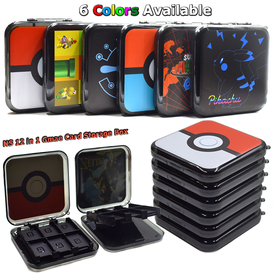 Nintend Switch 12 in 1 Portable Case Game Card Box Storage Hard Shell for Nintendo Switch NS Game