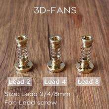 1 компл. 8 мм TR8-8 мм 4 мм 2 мм привести винт трапециевидной acme w/anti- люфт анти люфт гайка для ЧПУ или 3D принтер Запасные части