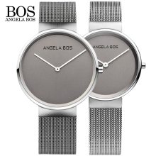 New Top Brand BOS Business font b Watch b font Men Luxury Ultra Thin Simple Quartz