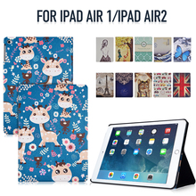 Tablet Cover for iPad Air 1 /  iPad Air 2 PU Leather Built-in Strong Magnet Features Auto Wakeup/Sleep Function All-New