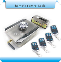 Free Shipping SCK 001 Stealth Wireless Remote Control Home Door Locks Smart Electronic Lock 4 Pcs