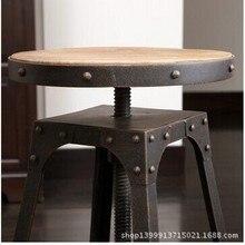 Pastoral Xiaozhan American hierro vintage madera bar Café té tienda lift sillas combinación