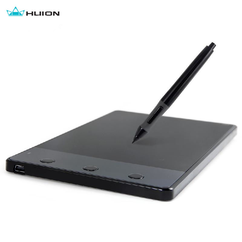 Huion 420 4-Inch Digital Tablets Writing Art Drawing Graphics Tablet Board Electromagnetic 4000LPI Levels 0.35W+ Digital Pen