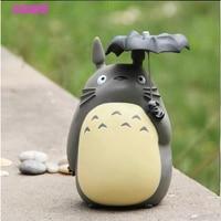 Hayao Miyazaki Anime Cartoon Totoro con L'ombrello Action PVC Figure Da Collezione Toy Doll 8