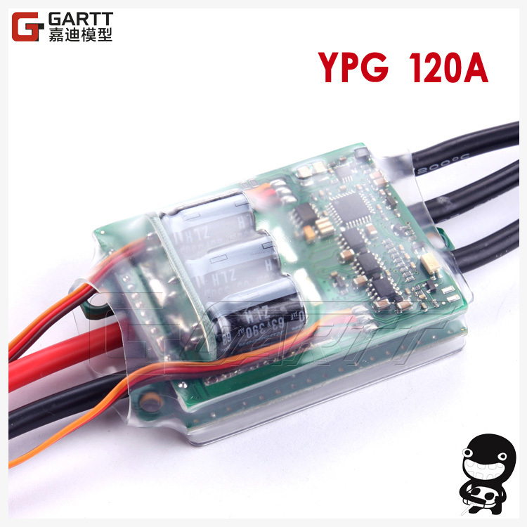 Freeshipping YPG HV 120A ESC (4~14S) SBEC Brushless Speed Controller For Trex 700 Helicopter wholesale cnbald 1959 custom signature electric guitar with bridge bigsby 20th anniversary in black 120323