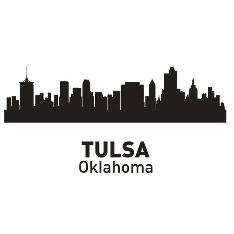 Home Decor Tulsa: DCTAL TULSA City Decal Landmark Skyline Wall Stickers