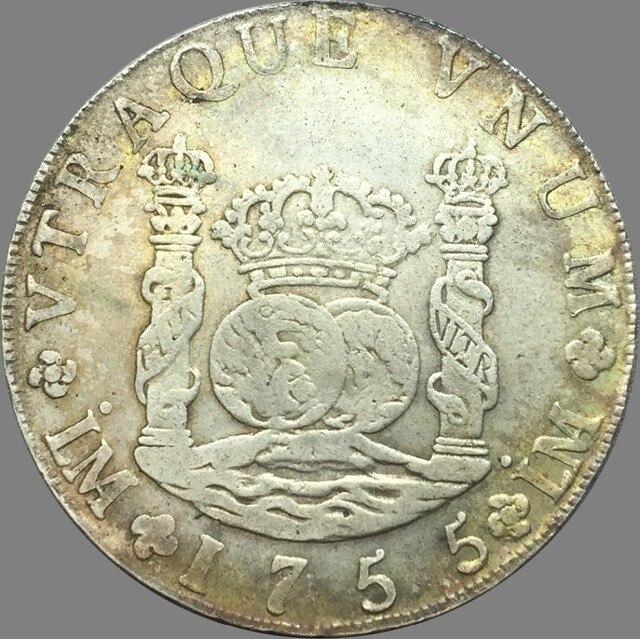 Peru Ferdinand Vi 8 Reales 1755 Lm Jm 90 Silber Kopie Münzen In