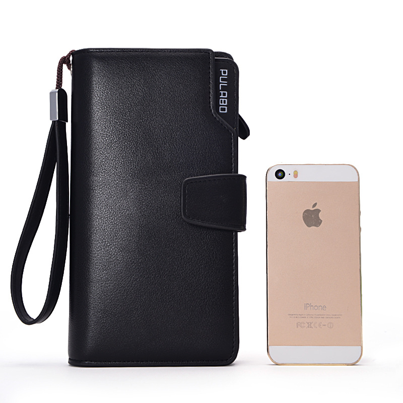 2018 Card Holder PU Leather Wallet Men Long Design Quality Passport Cover Casual Men Pur ...