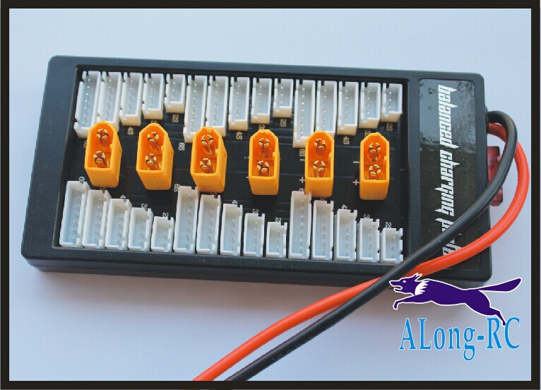 Balance Charge Adaptor RC MODEL Board Parallel Charging Plate / Up to 6 packs 2-6s Lipo Lion Battery ,iMAX B6 B6AC B8 Charger