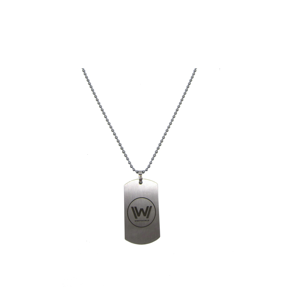 New Westworld Logo Necklace Hot TV Series Stainless Steel Dog Tag Pendant Beaded Chain F ...