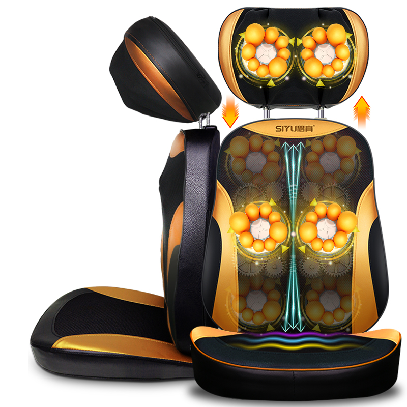 Electric Body Massager Neck Lumbar Back Cervical Chair Cushion Pillow Shoulder Massage Cushion Home Holiday gift for Parents tapping massage cushion 3d new massager whole body massage chair mat for sale