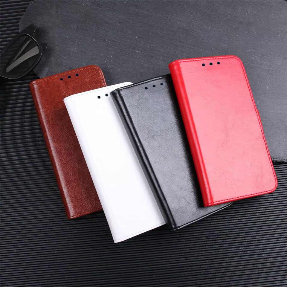 Lüks PU deri flip cüzdan telefon kılıfı Kapak sfor Huawei Y9 Y7 Y6 2019 P Akıllı Artı Y5 Y6 2018 Standı Kart Tutucu telefon Coque