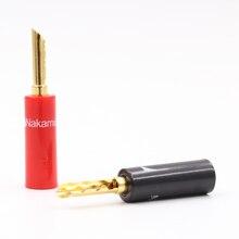 4pcs Nakamichi 24k gold plated BFA 4mm Banana Plug Z type banana Connector