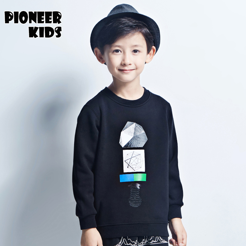 Pioneer Kids 2016 Newest Boys Sweatshirts Clothes Autumn&Winter Boys Hoodies Boy T-shirt thicken hoodies boys