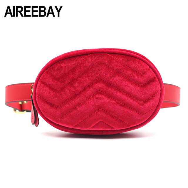 AIREEBAY 2018 New Arrival Women Waist Packs Fashion Simple Design Female Bags Classic Trendy Waist Bags Vintage bum Bags