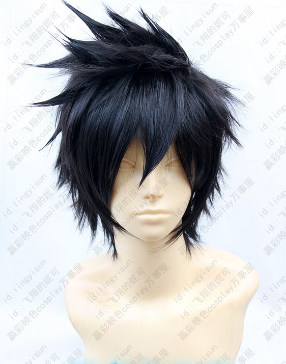 PSYCHO PASS Kogami Shinya Anime Hair Short Black Spiky ...