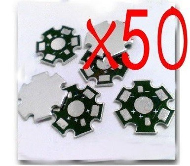 50pcs High Power 1w/3w LED Heat Sink Aluminum Base plate New