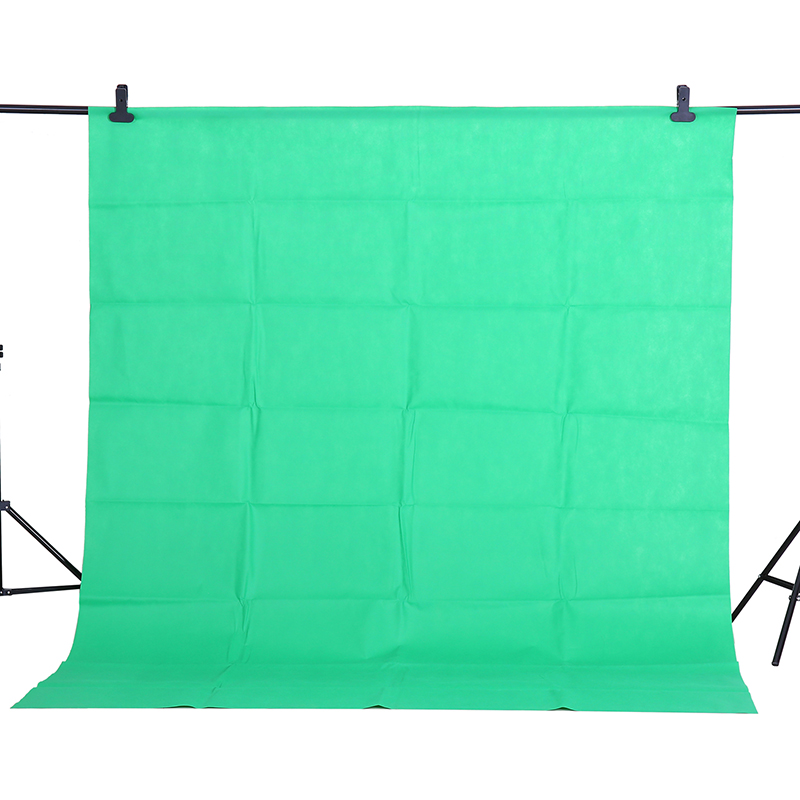 CY Hot Sale 1.6x2m Green Cotton Non-pollutant Textile Muslin Photo Backgrounds Studio Photography Screen Chromakey Backdrop