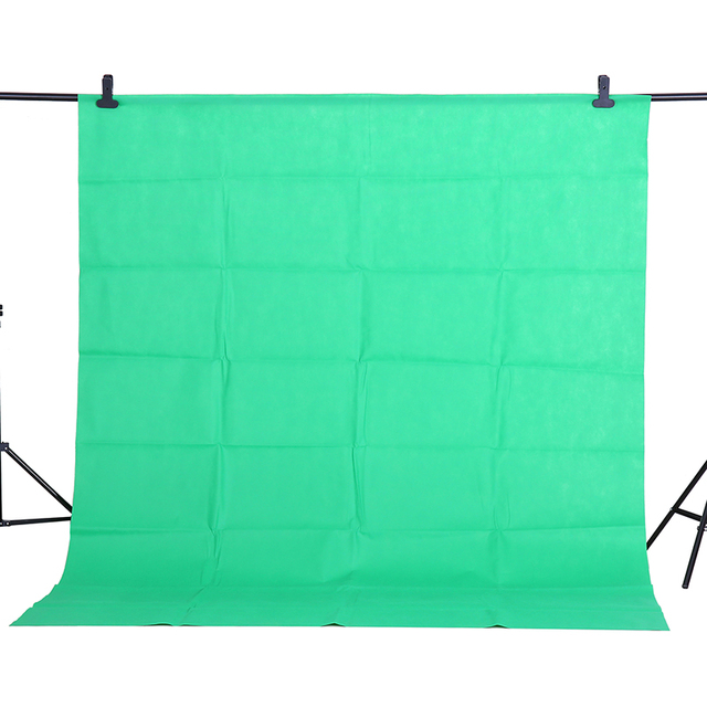 CY Hot Sale 1.6x2m Green Cotton Non pollutant Textile Muslin Photo Backgrounds Studio Photography Screen Chromakey Backdrop
