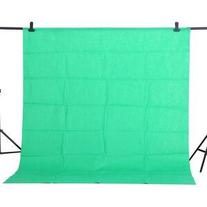 Image 1 - CY offre spéciale 1.6x2m vert coton Non polluant Textile mousseline arrière plans Photo Studio photographie écran Chromakey toile de fond