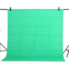 CY vendita calda 1.6x2m cotone verde mussola tessile Non inquinamento sfondi fotografici Studio fotografico schermo Chromakey sfondo