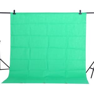 Image 1 - Cy ホット販売 1.6x2m グリーン綿非汚染物質テキスタイルモスリン写真背景スタジオ写真撮影画面クロマキー背景